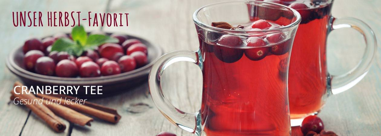 Cranberry Tee im Herbst